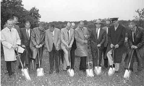 Above: The ground breaking ceremony at Squaw Creek